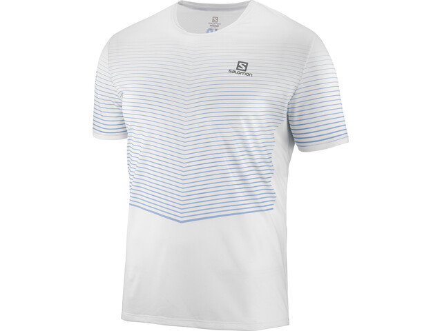 Salomon Sense T-shirt Homme, white/faded denim